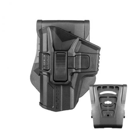 SC-G9R LH - Polymerové pouzdro Scorpus pro Glock 9mm s pojistkou (pádlo i opasková redukce) pro leváka (PB35) černé