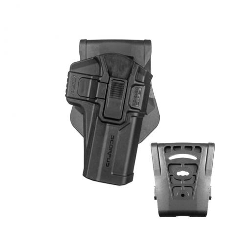 SC-G21 R - Polymerové pouzdro Scorpus pro Glock 21 s pojistkou (pádlo i opasková redukce) pro praváka (PB35) černé