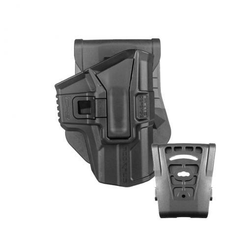 SC-G9 - Polymerové pouzdro Scorpus Glock (17,19) bez pojistky (pádlo i opasková redukce) (PB35) černé