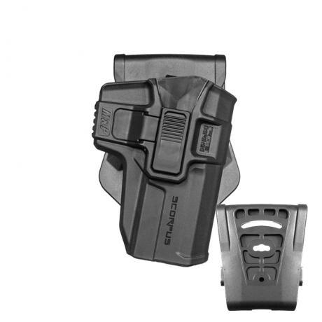 SC-M&P9 R - Polymerové pouzdro Scorpus pro Smith Wesson M&P 9/.40 Full frame and Pro model s pojistkou (PB35) černý