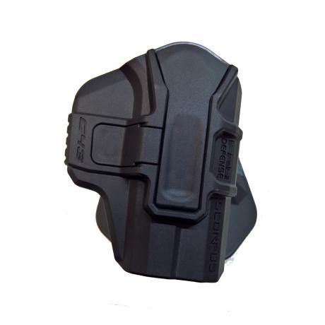 M1 G43 L1 S - Scorpus pouzdro pro Glock 43 bez pojistky (pádlo a opasková redukce) pro praváka (PB35) černé