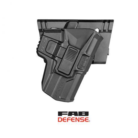 M24 G9 - Scorpus pouzdro pro Glock 17, 19 bez pojistky - jiný druh pádla (P) černé