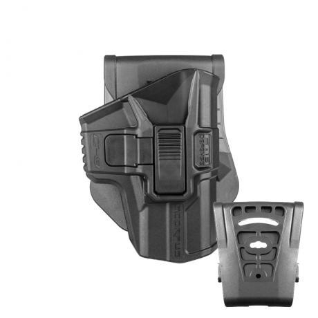 SC-G9SR - Polymerové pouzdro Scorpus Glock (17,19) s pojistkou (pádlo i opasková redukce) (PB360) černé