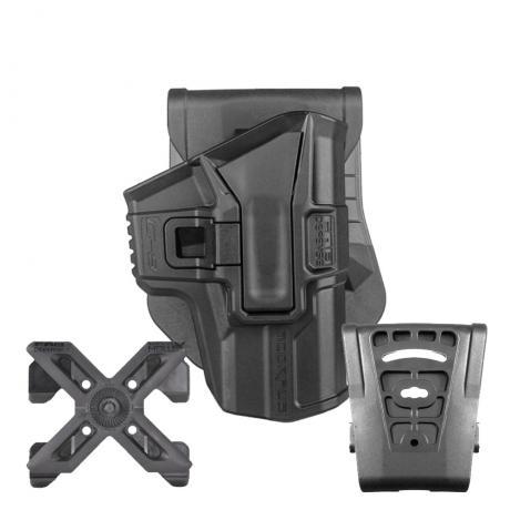 SC-G9 S - Polymerové pouzdro Scorpus Glock (17,19) bez pojistky (pádlo, molle i opasková redukce) (PBM360) černé
