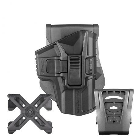 MX-G9SR - Polymerové pouzdro Scorpus Glock (17,19) s pojistkou (pádlo, molle i opasková redukce) (PBM360) černé