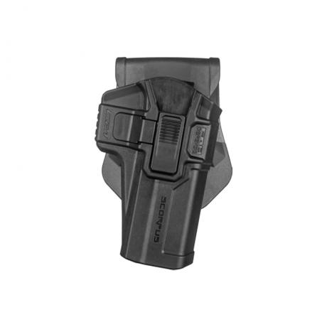SC-G21 M24 R - Polymerové pouzdro Scorpus pro Glock 21 s pojistkou (pádlo) pro praváka (PB35) černé