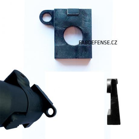 OO-R - Ocelová podložka v ose hlavně s okem na popruh pro pažby FAB Defense SA-58 vpravo