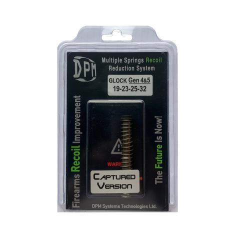 MS-GLG5/2 Captured - Vratná pružina s redukcí zpětného rázu DPM GLOCK 19, 23, 25, 32 GEN 4-5 CAPTURED Black