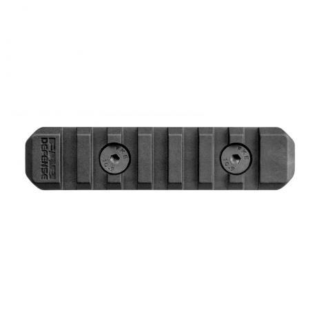 MA-3 - Polymerový adaptér M-LOK to Picattiny 7 slotů (souměrný) - černý
