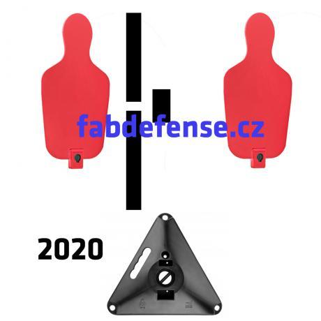 RTS 2 2020 - RTS Targets - Pevný padací terčový set verze 2020 - červená