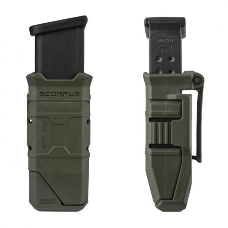 QL-9 - Pouzdro na 1 zásobník (polymer i steel) 9mm, .40 S&W s rychlonabíječem - černý