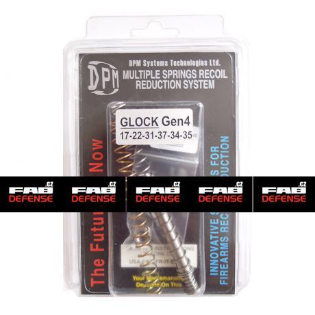 MS-GL/1 - Vratná pružina s redukcí zpětného rázu DPM pro Glock 17/22/31/37 (GEN 3)